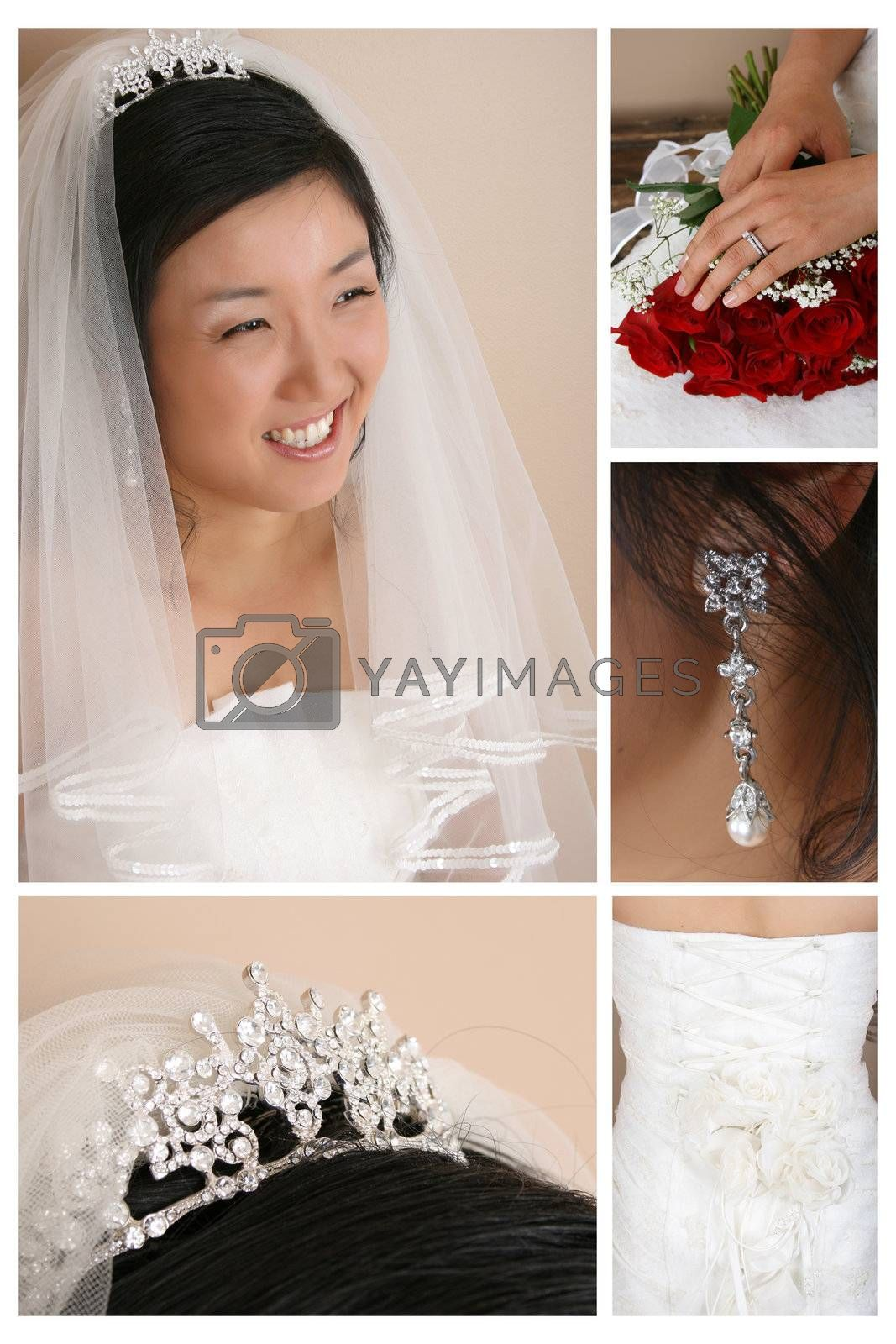 Combination of Korean Bride and bridal accessories