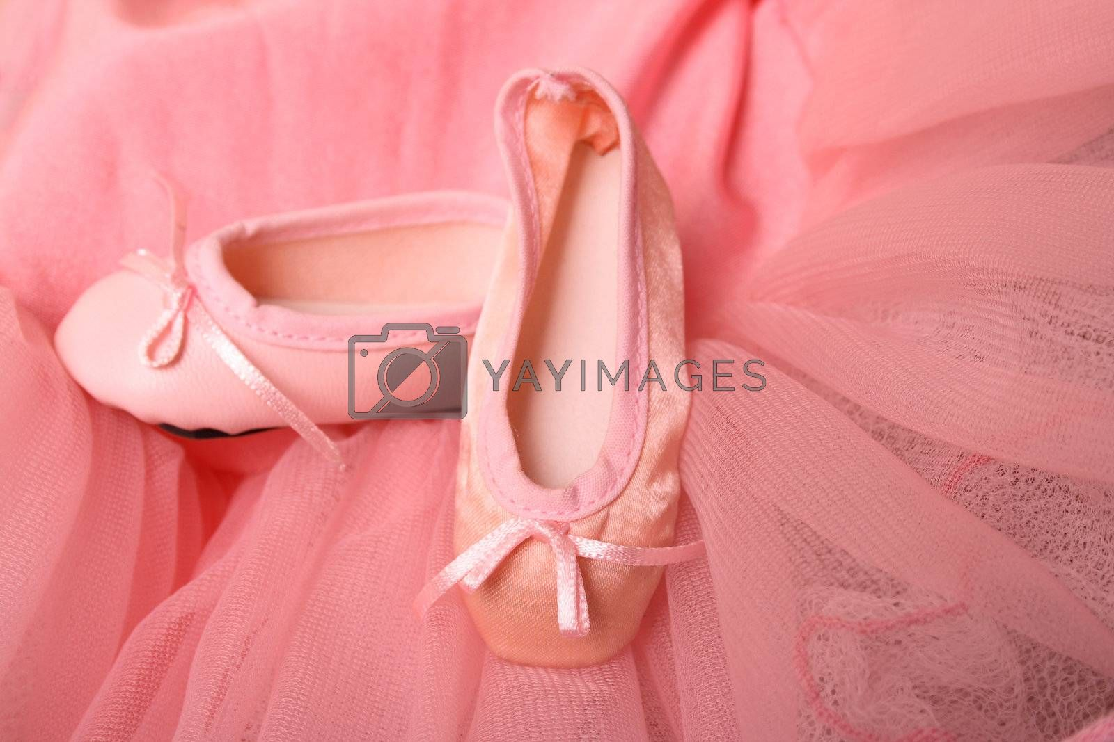 Pink Ballet costume and miniature ballet shoes