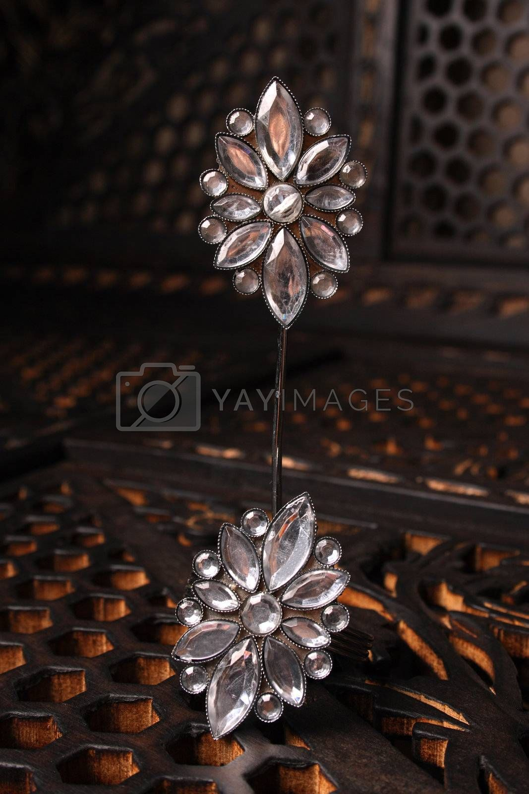 Name Place Holder with glass shaped flowers