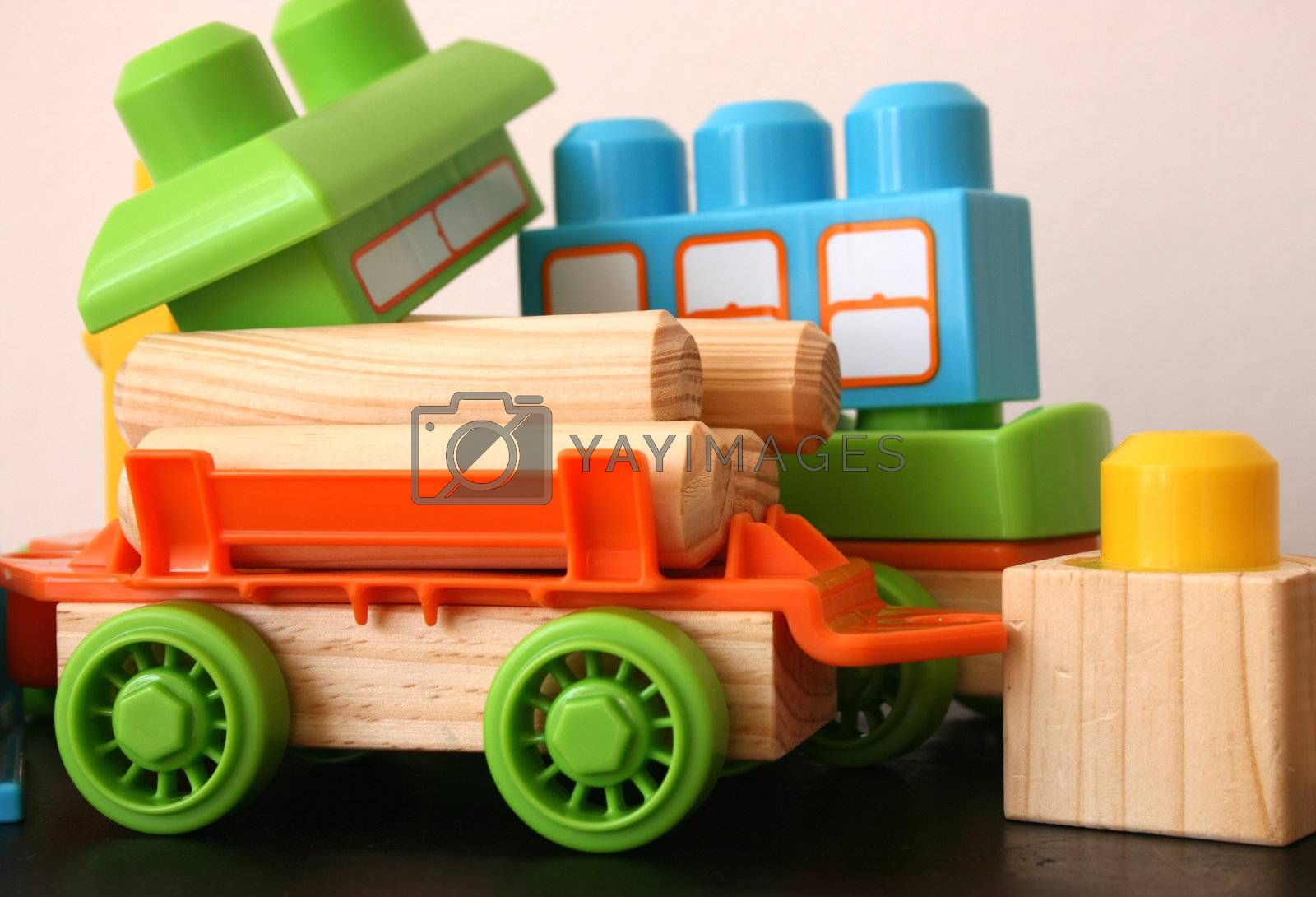 Fun educational toys for children in bright colors