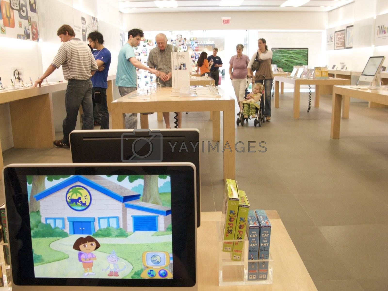 Apple Store at high end mall in Georgia, USA