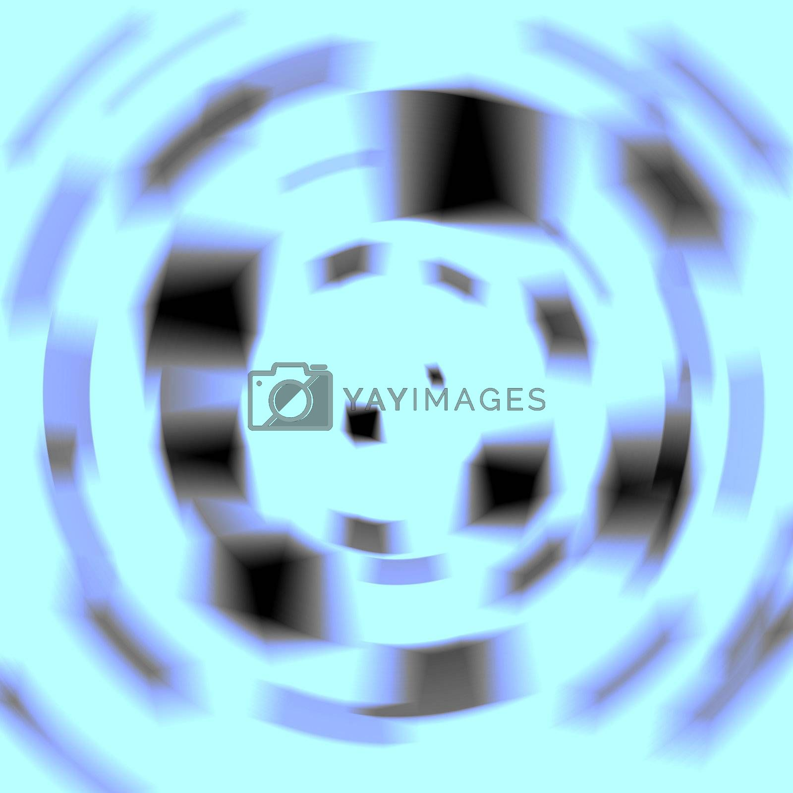 Computer generated abstract coloured fractal background illustration