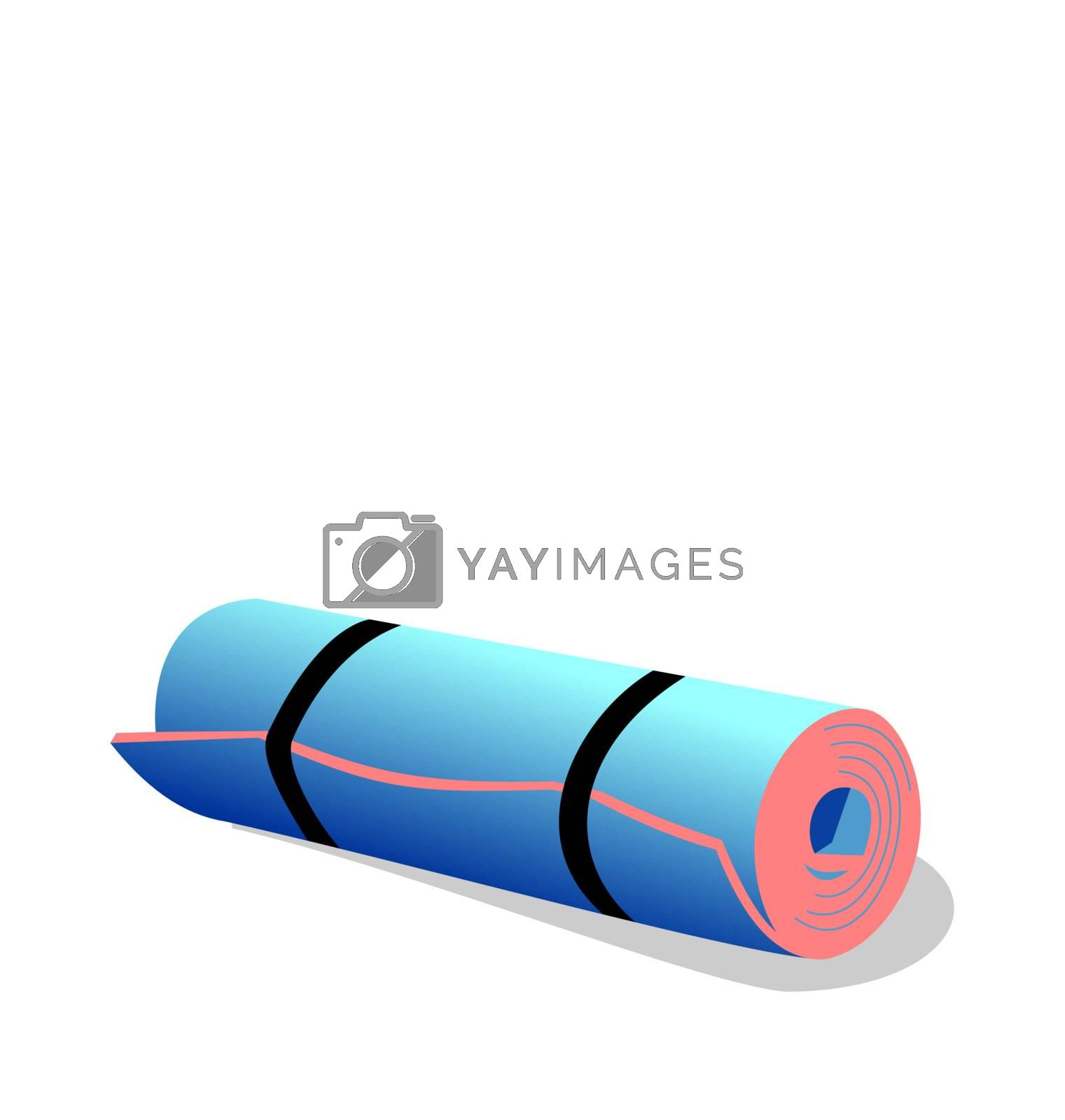 Realistic illustration of  spandex mat isolated on white background  - vector