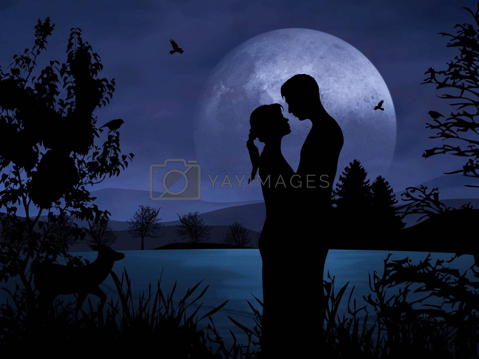 Couple in Romance by Hasenonkel