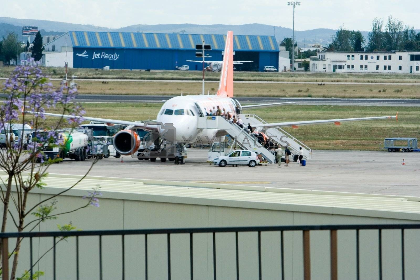 Airplane at Valencia airport