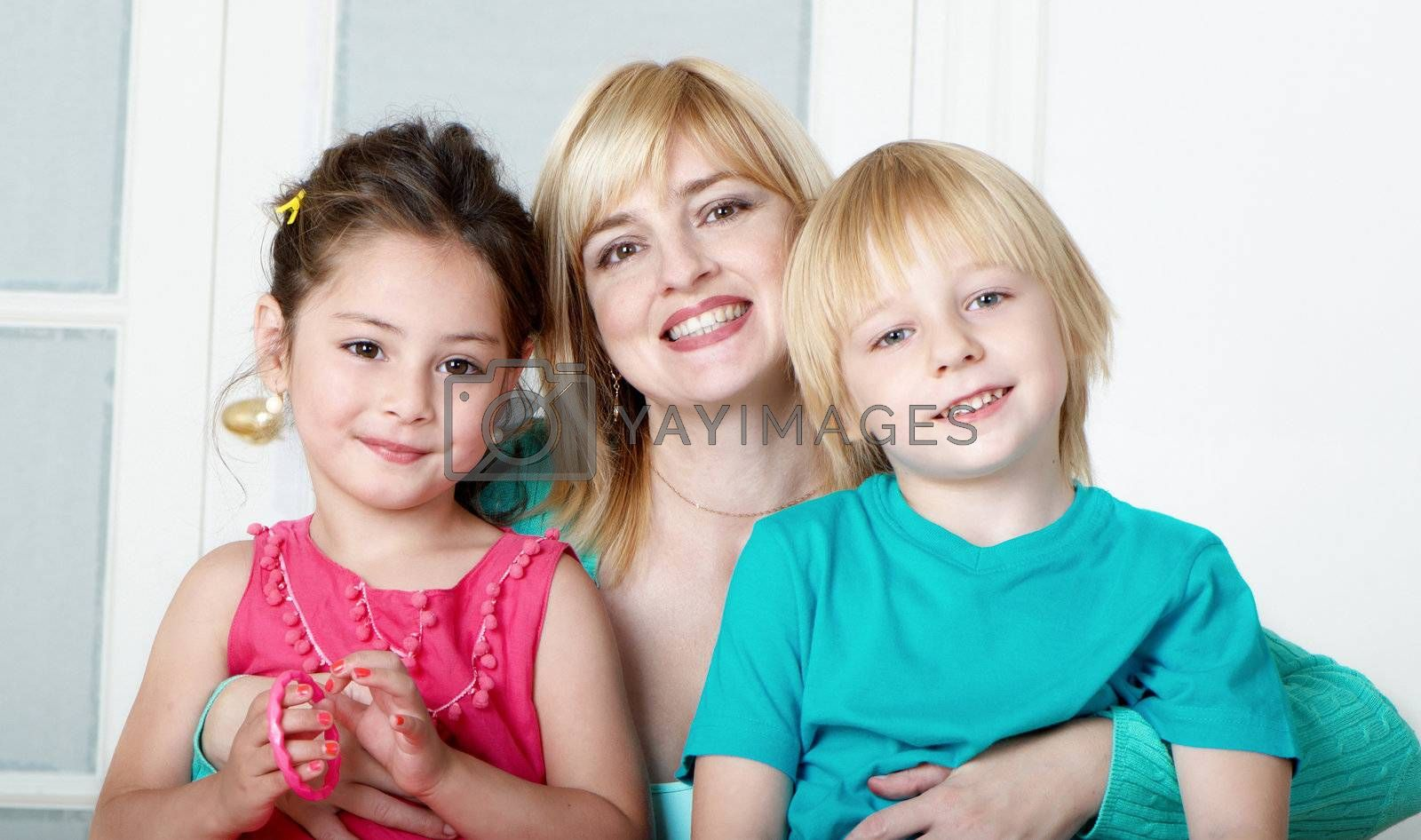 Happy family. Mum's day