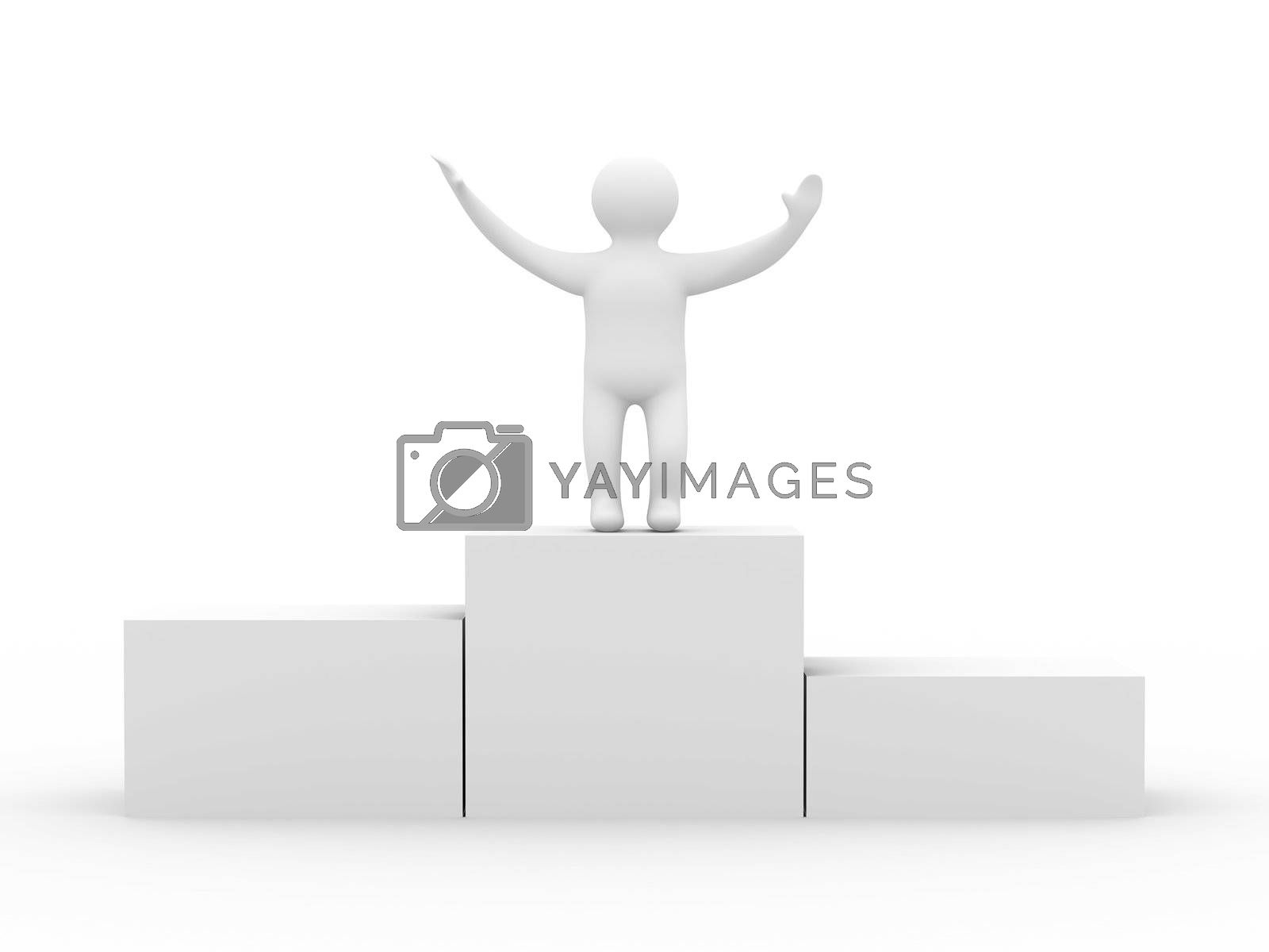 Royalty free image of Rewarding of the winner. Isolated 3D image  by ISerg