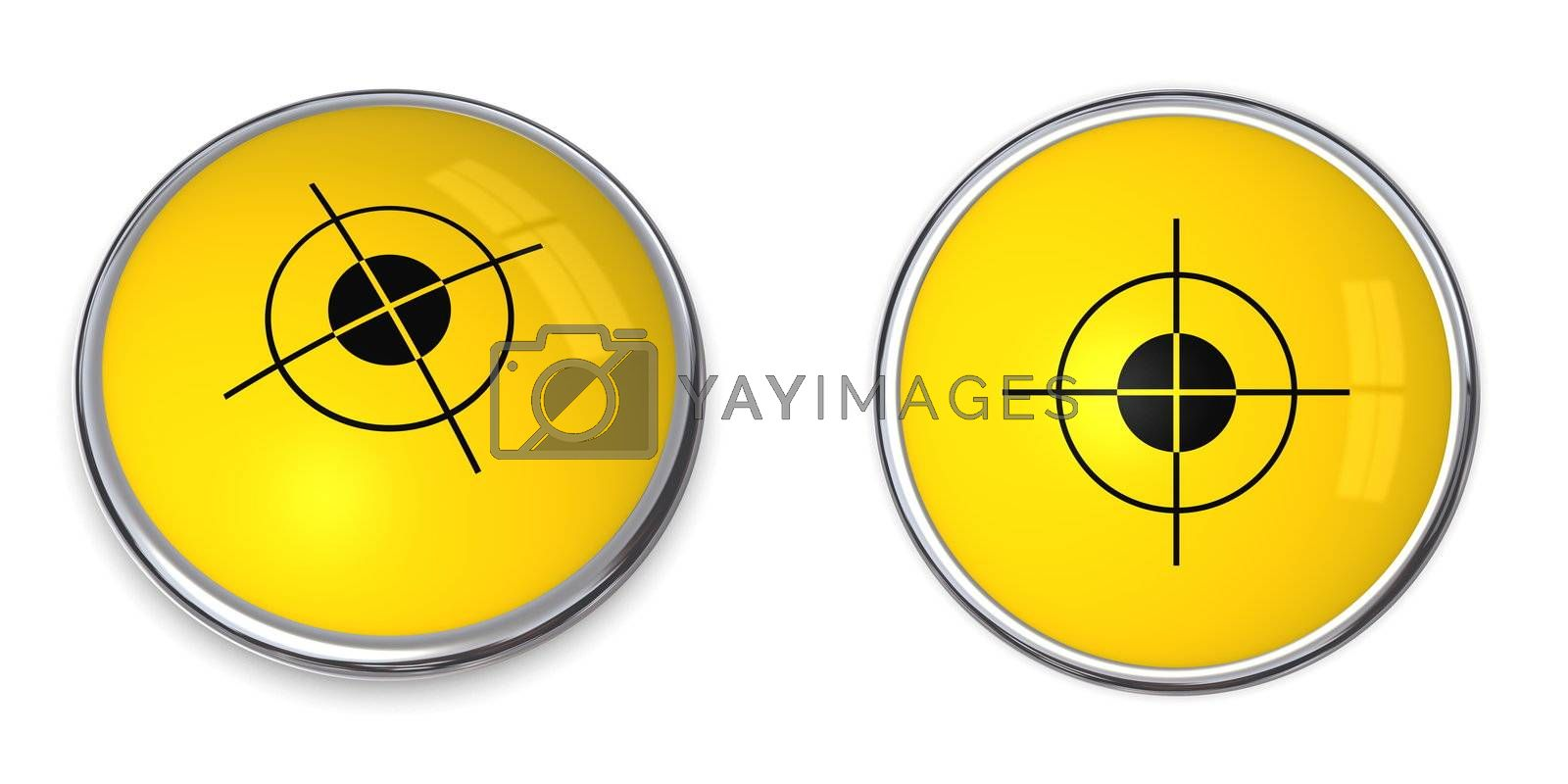 Royalty free image of Button Cross Hair Symbol by PixBox