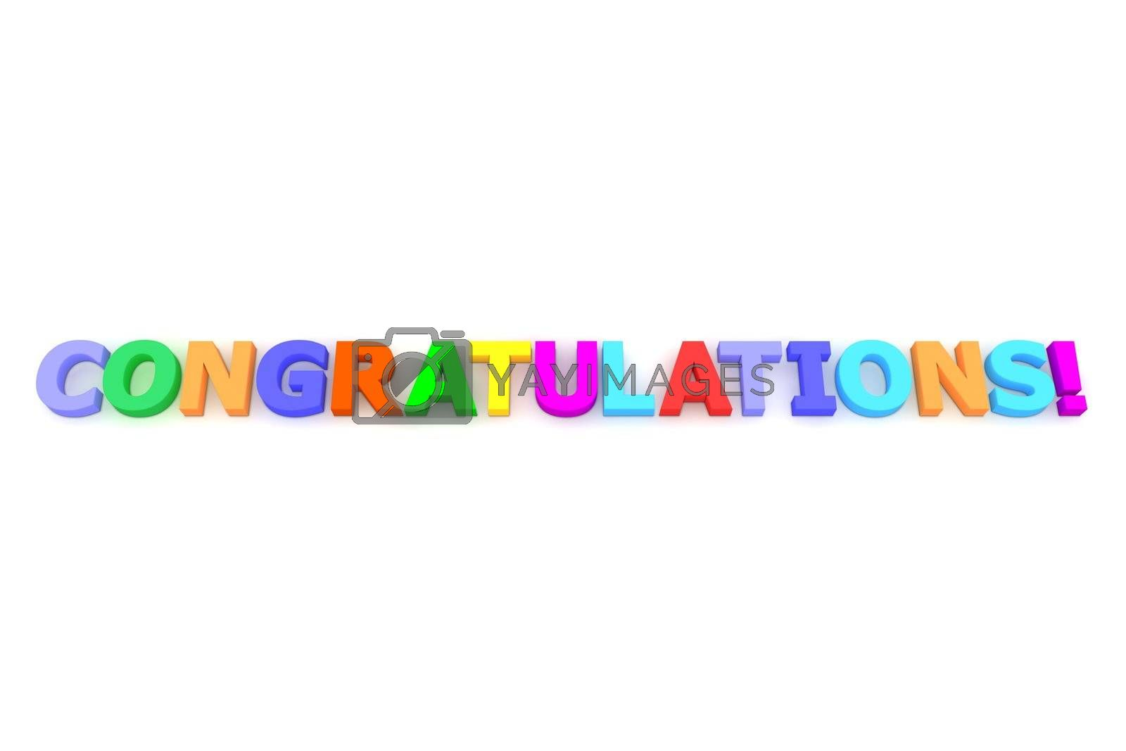 Royalty free image of Colourful Congratulations by PixBox