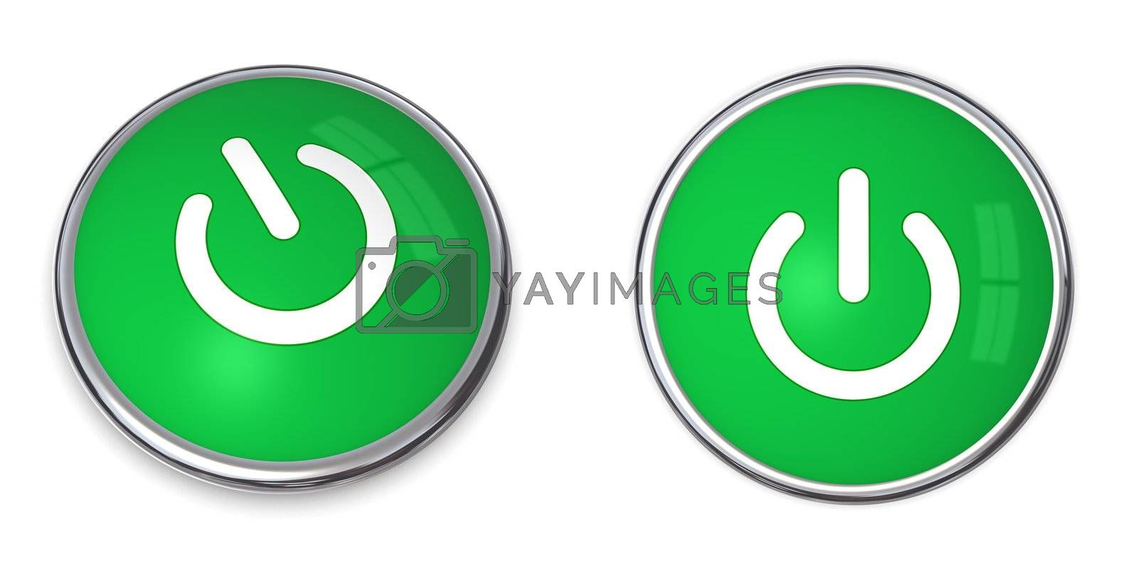 Royalty free image of Green Power Button by PixBox