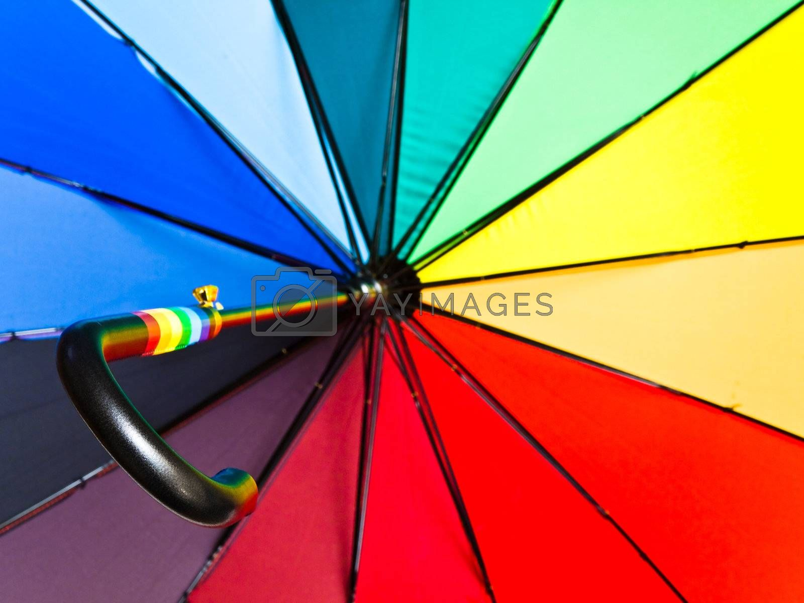 Royalty free image of multicolored opened umbrella by SNR