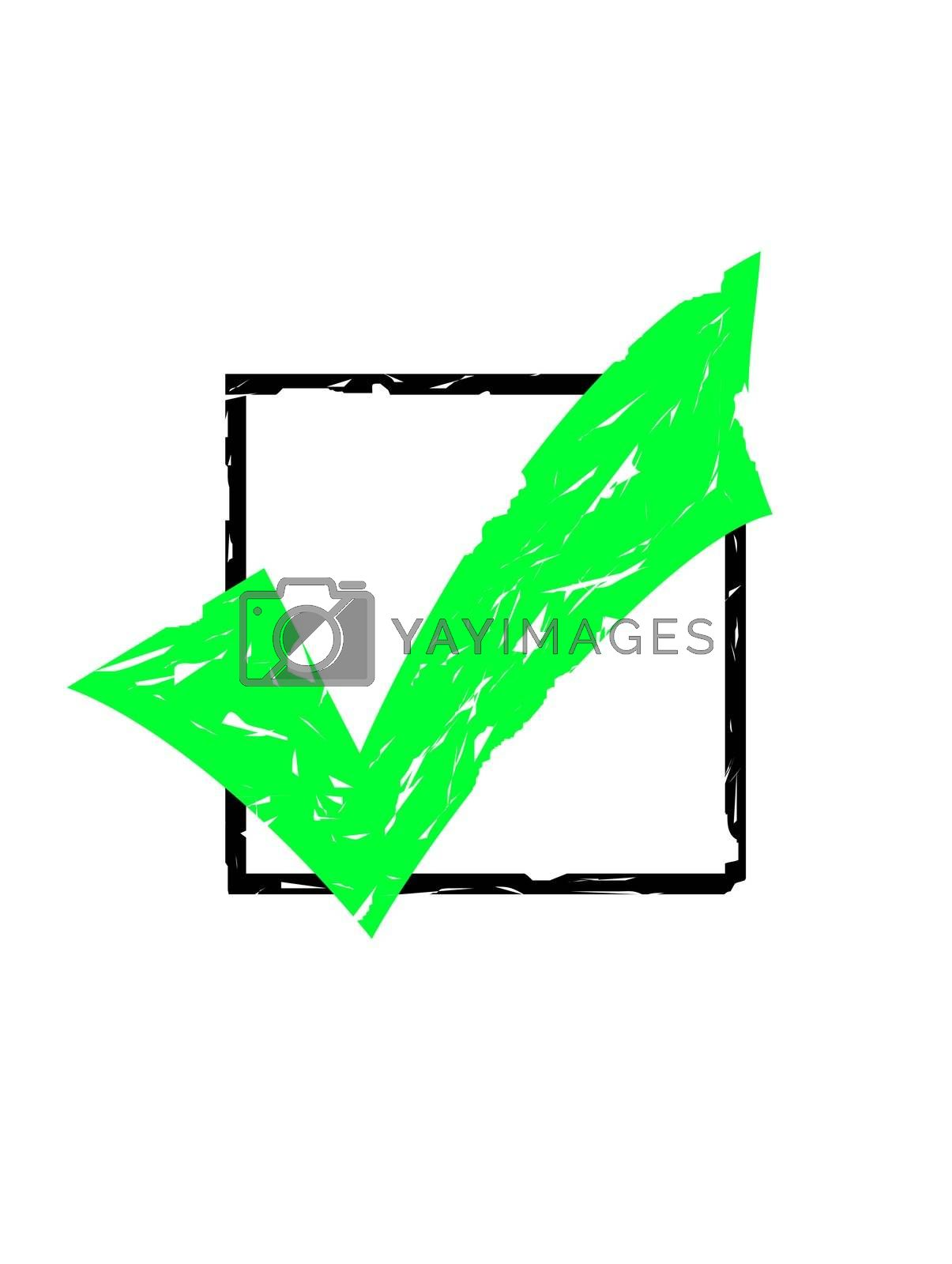 Royalty free image of Stamped tick mark in box by speedfighter
