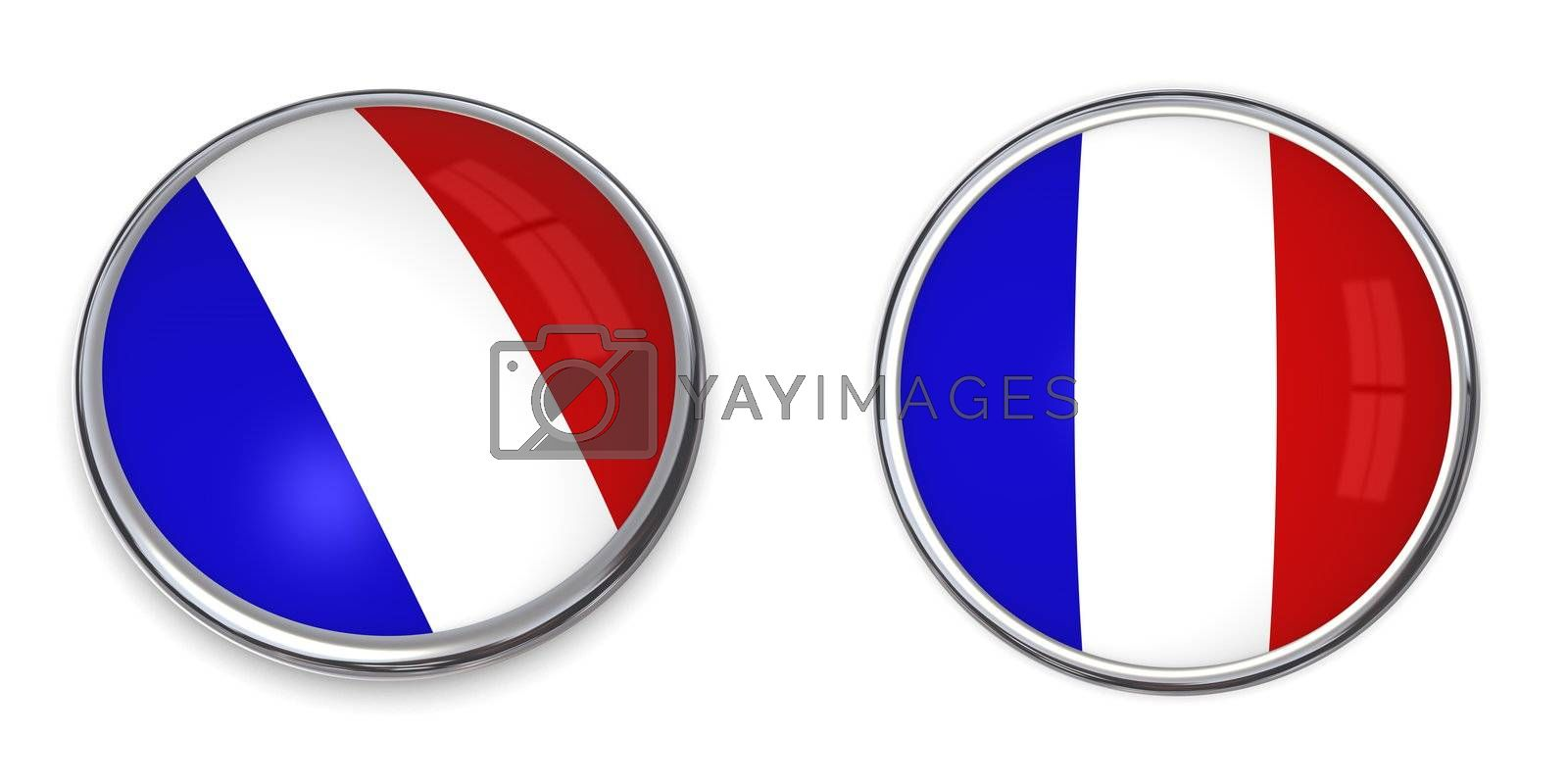 Royalty free image of Banner Button France by PixBox