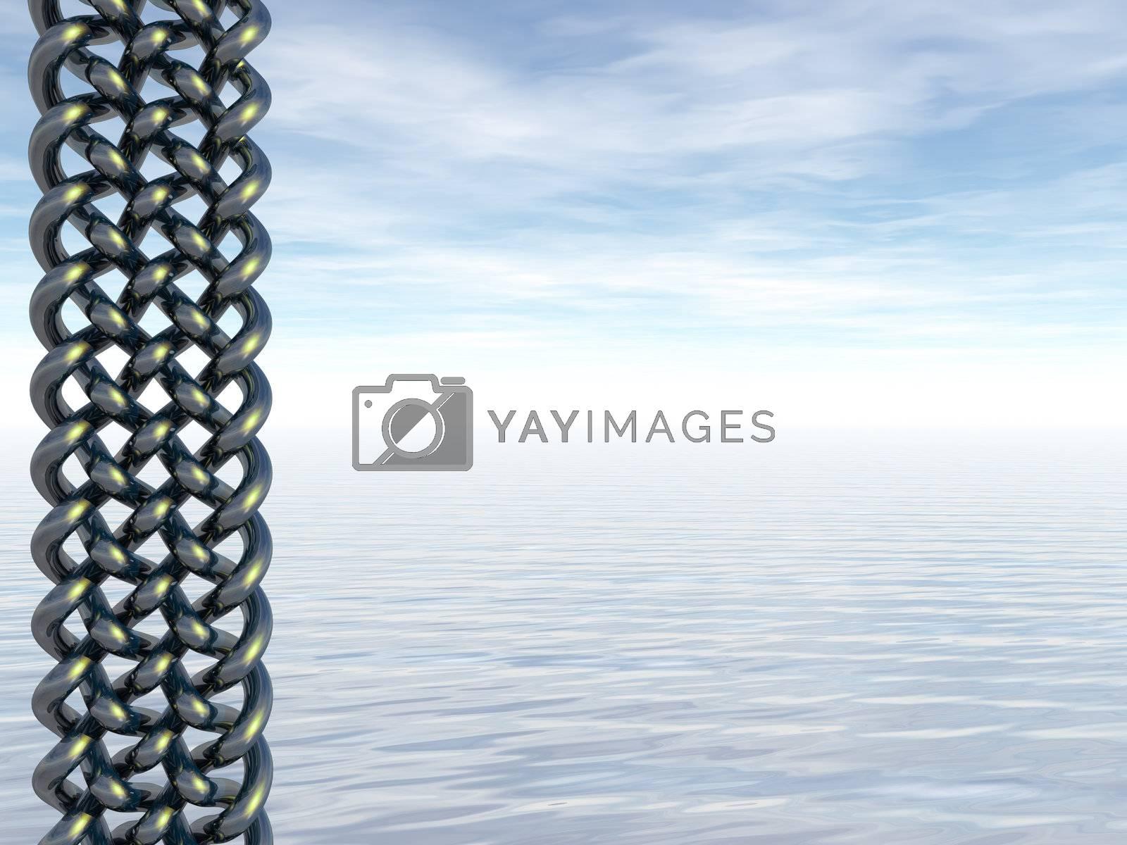 celtic art and water landscape - 3d illustration