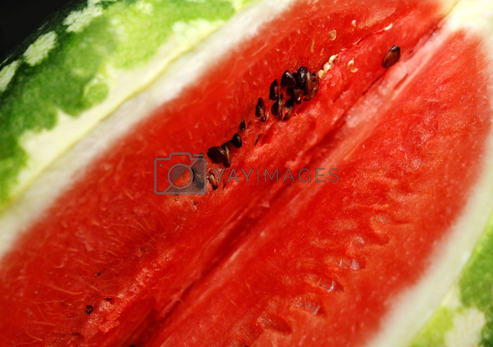 appetizing watermelon close up