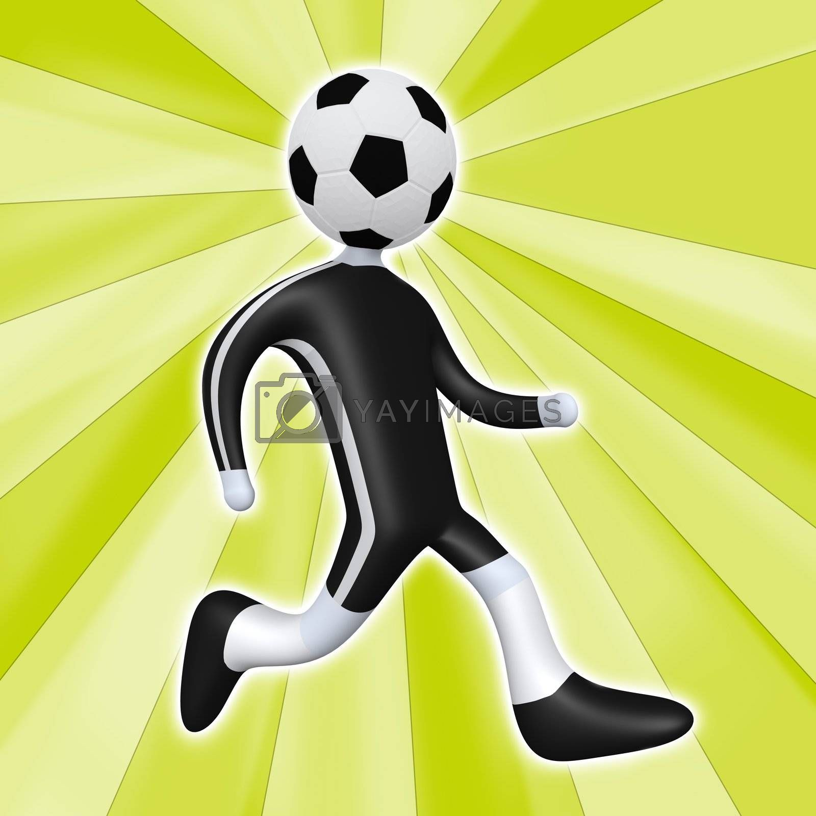 Football Person by 3pod