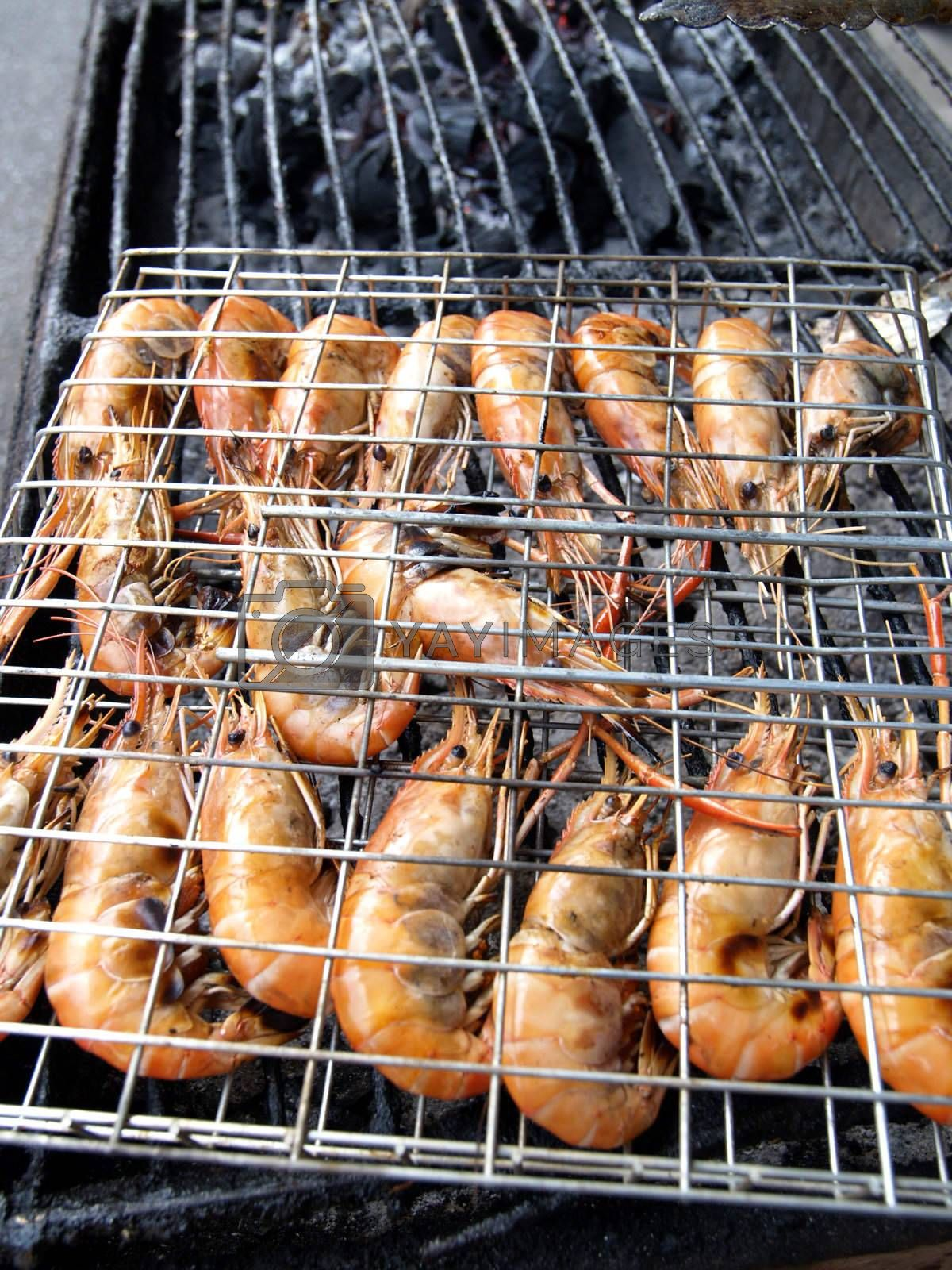 Shrimp barbecue by epixx