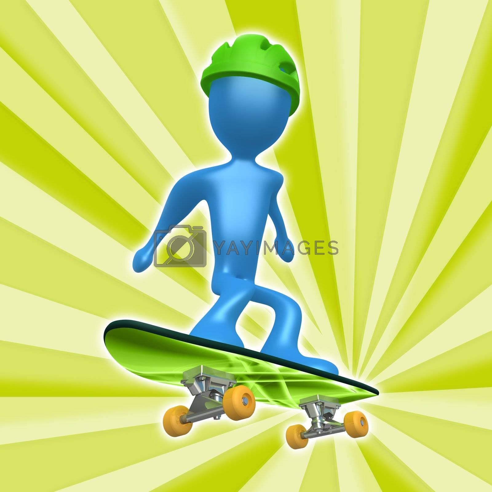 Skateboarding by 3pod
