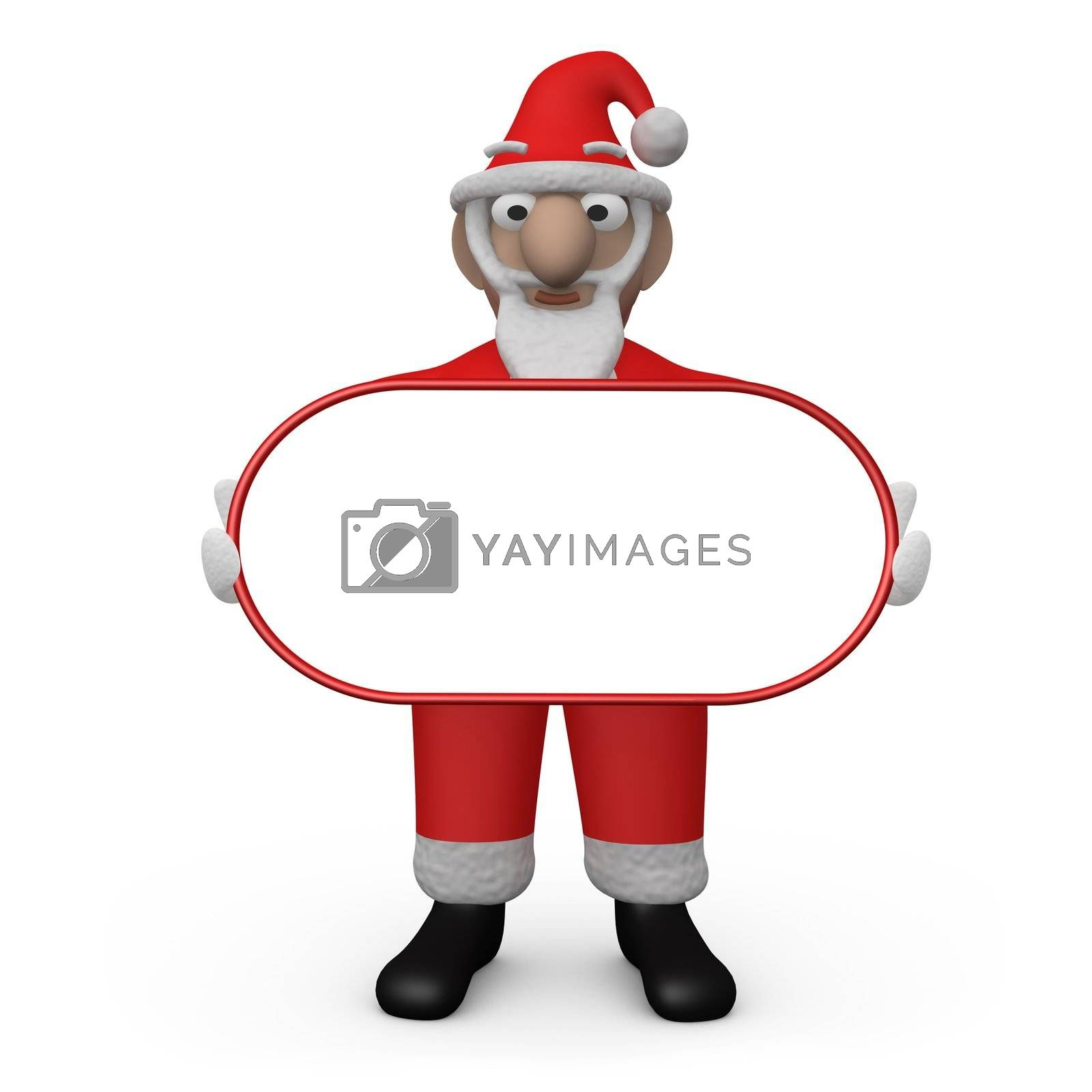 Santa with Empty Sign by 3pod