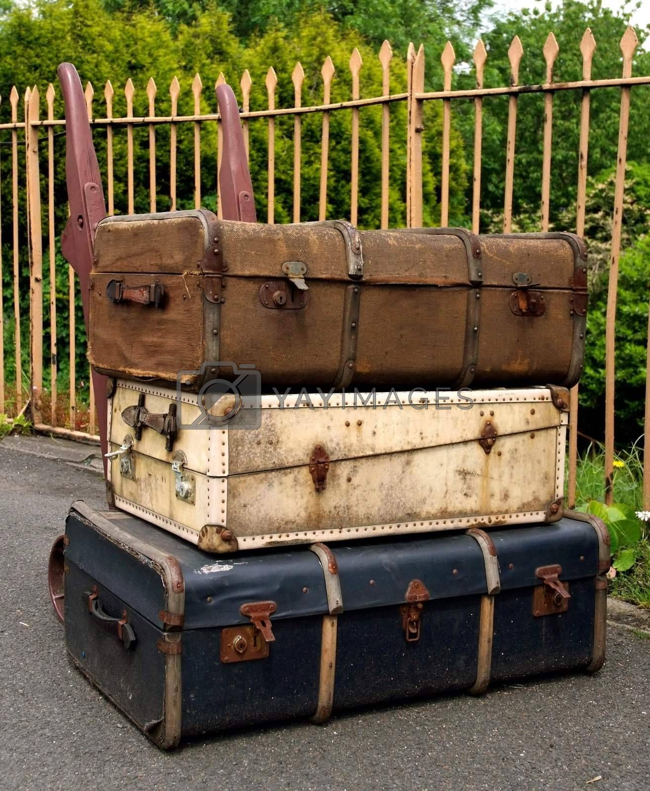 Old Suitcases by runamock
