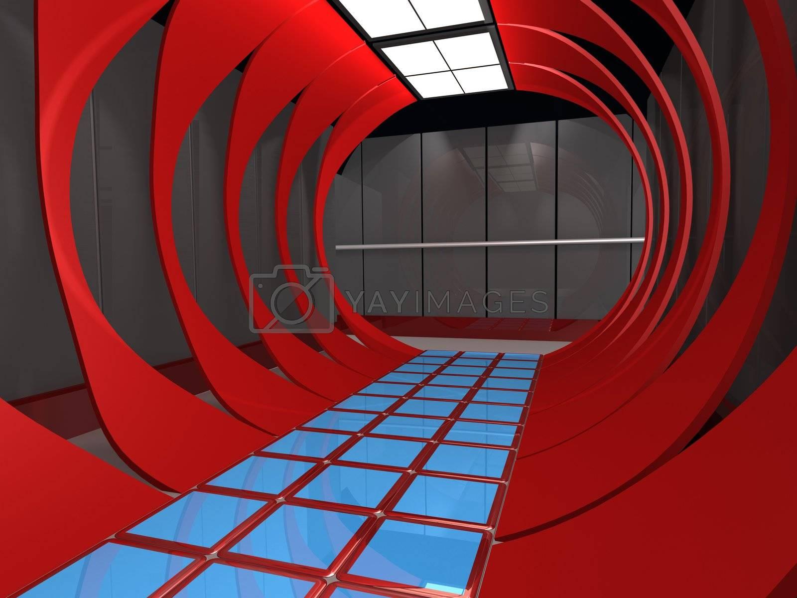 Futuristic Interior by 3pod