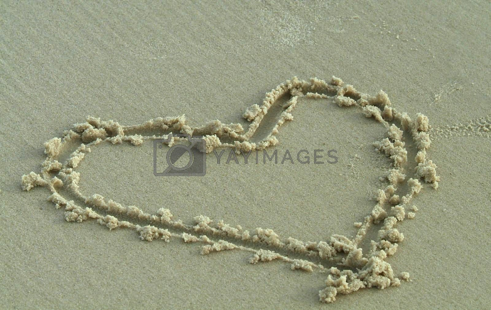 Heart in the sand by epixx
