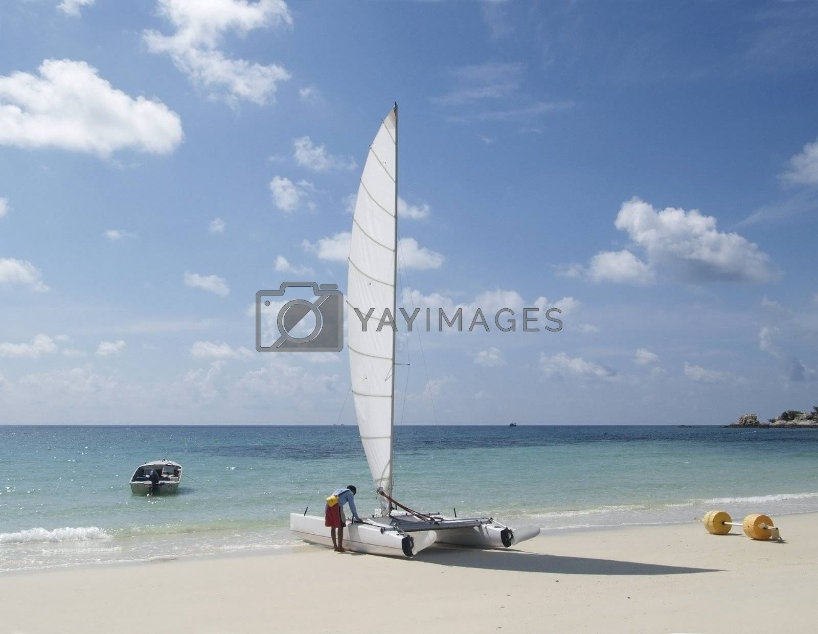 Preparing a catamaran by epixx