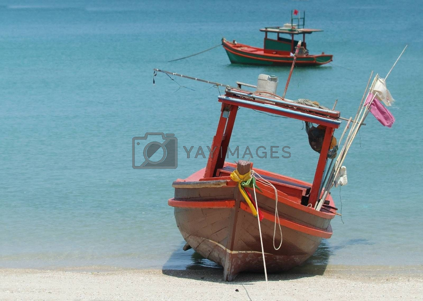 Two small fishing boats by epixx