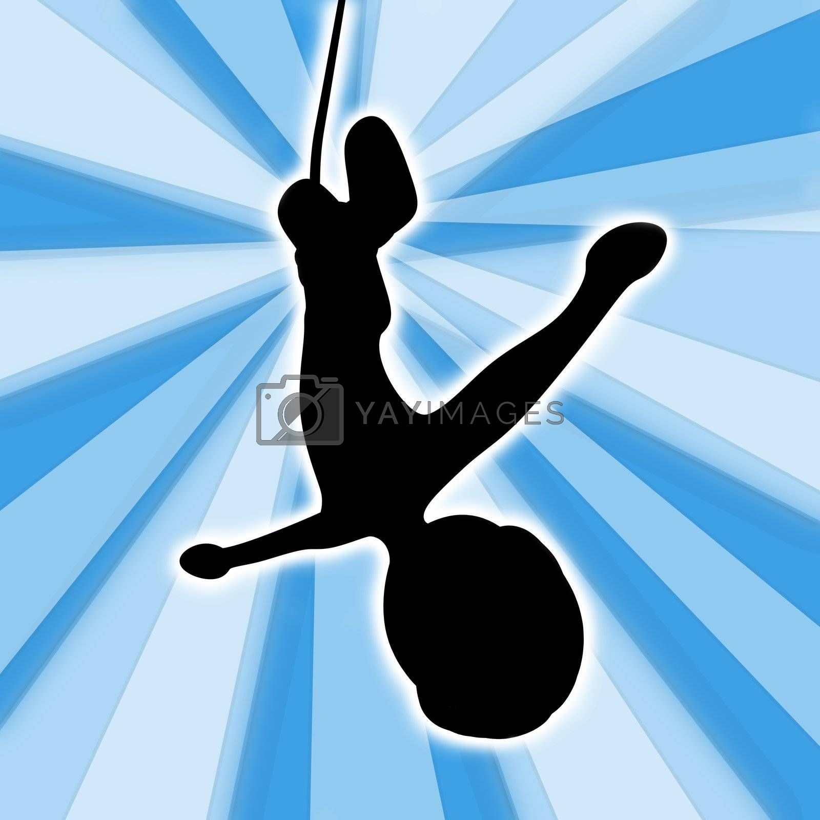 Computer generated image - Bungee Jumping .