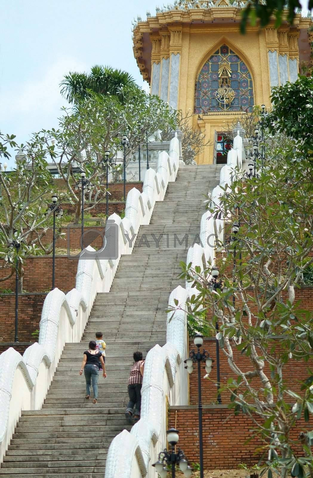 Stairs to a temple by epixx