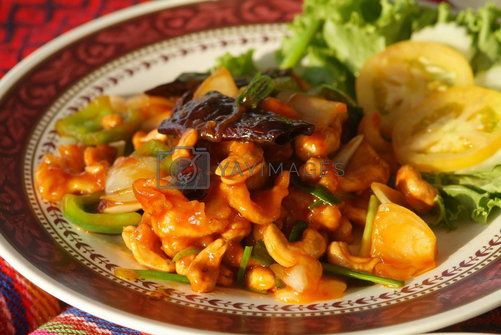 Chicken with cashew nuts by epixx
