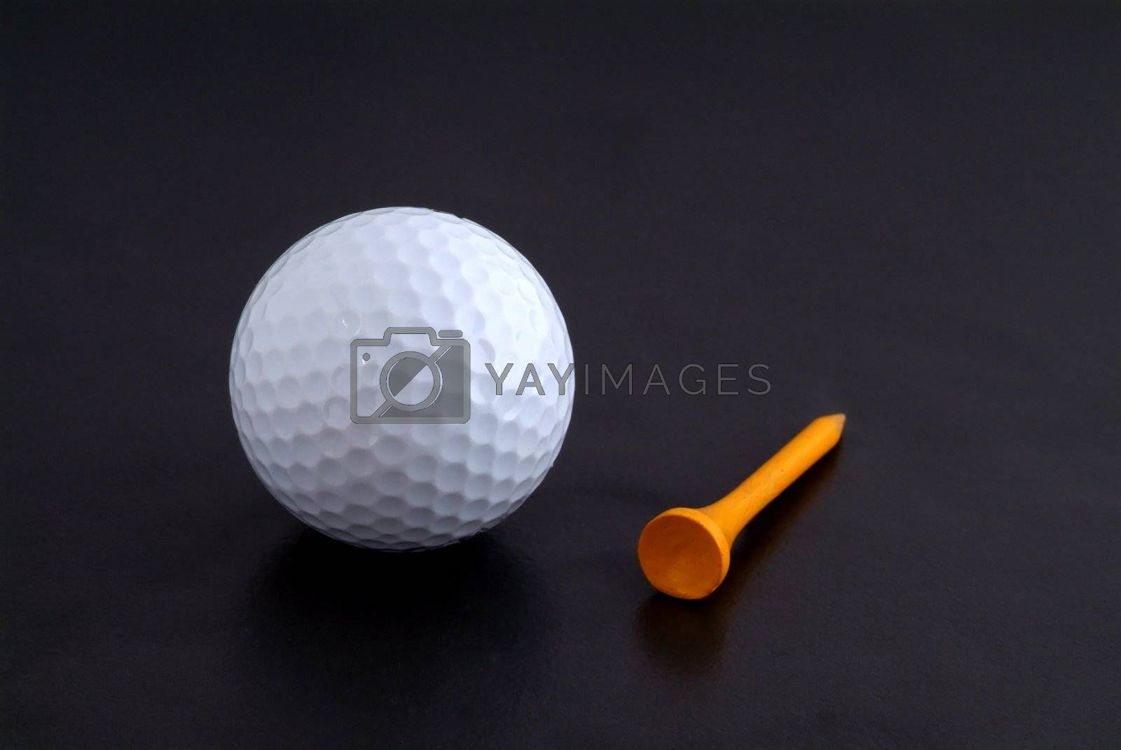 Golf ball and tee by epixx