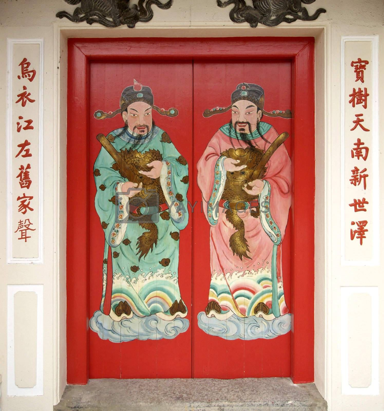 Red Chinese door by epixx