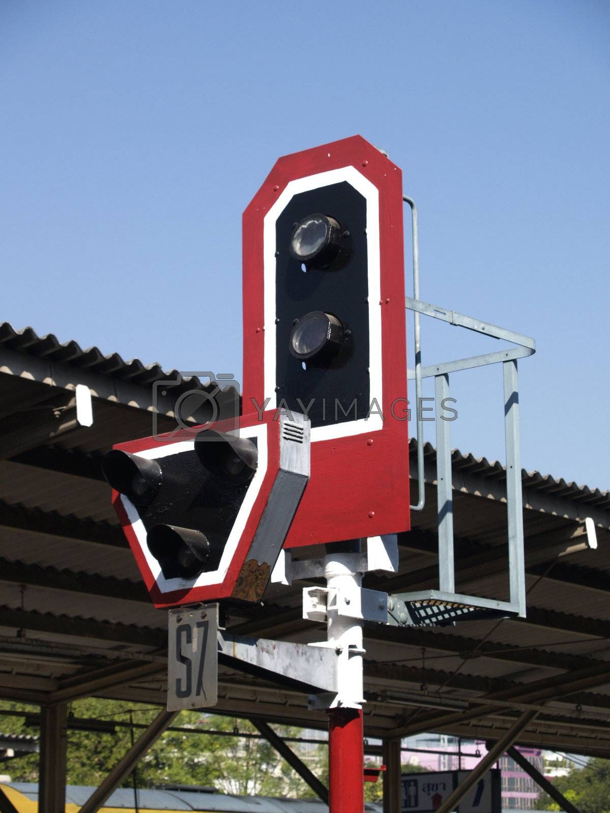 Old style railway signal by epixx
