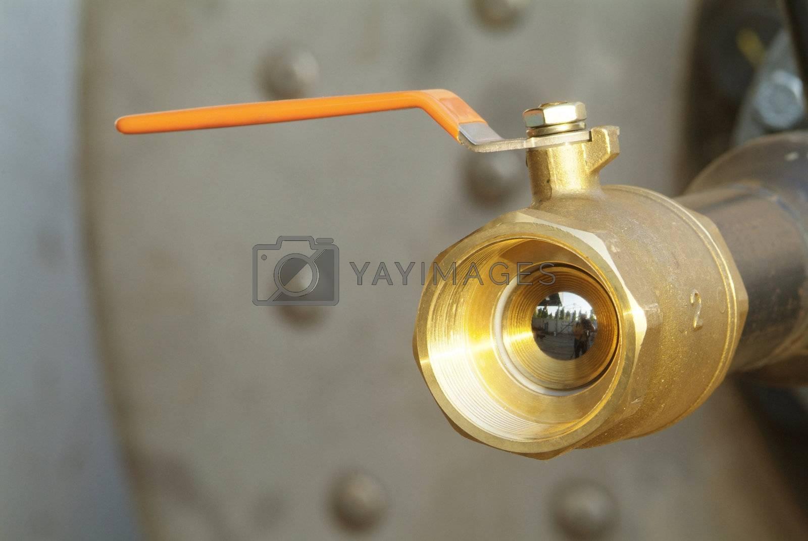 Ball valve with orange handle by epixx