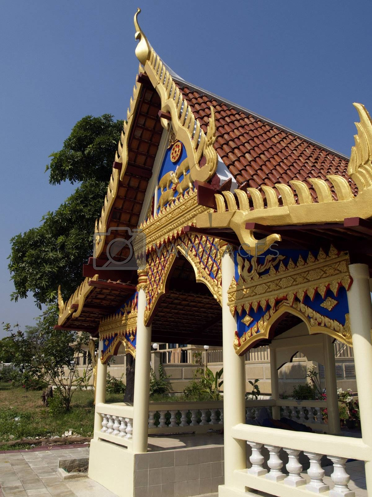Traditional Thai building by epixx