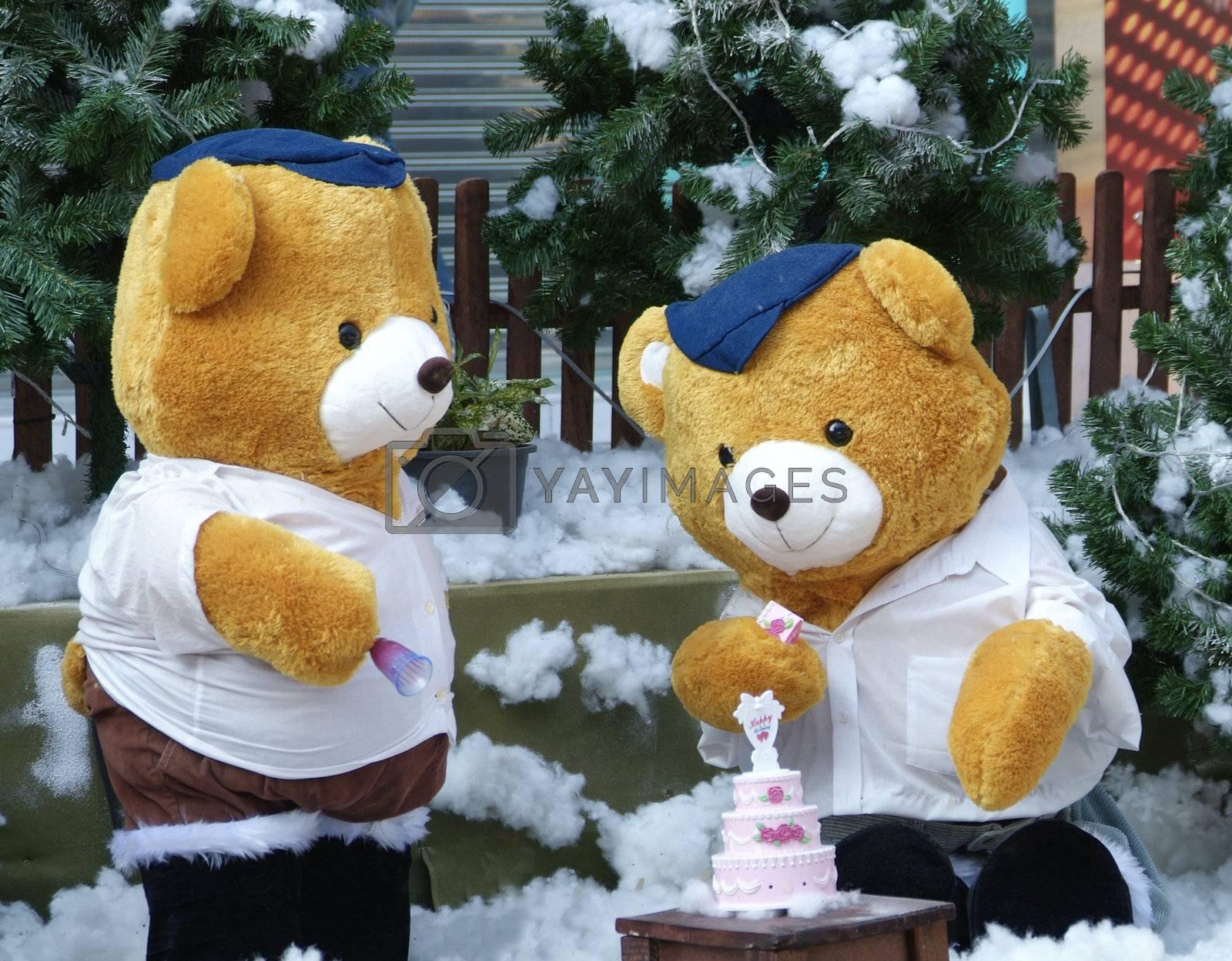 Teddybears with cake by epixx