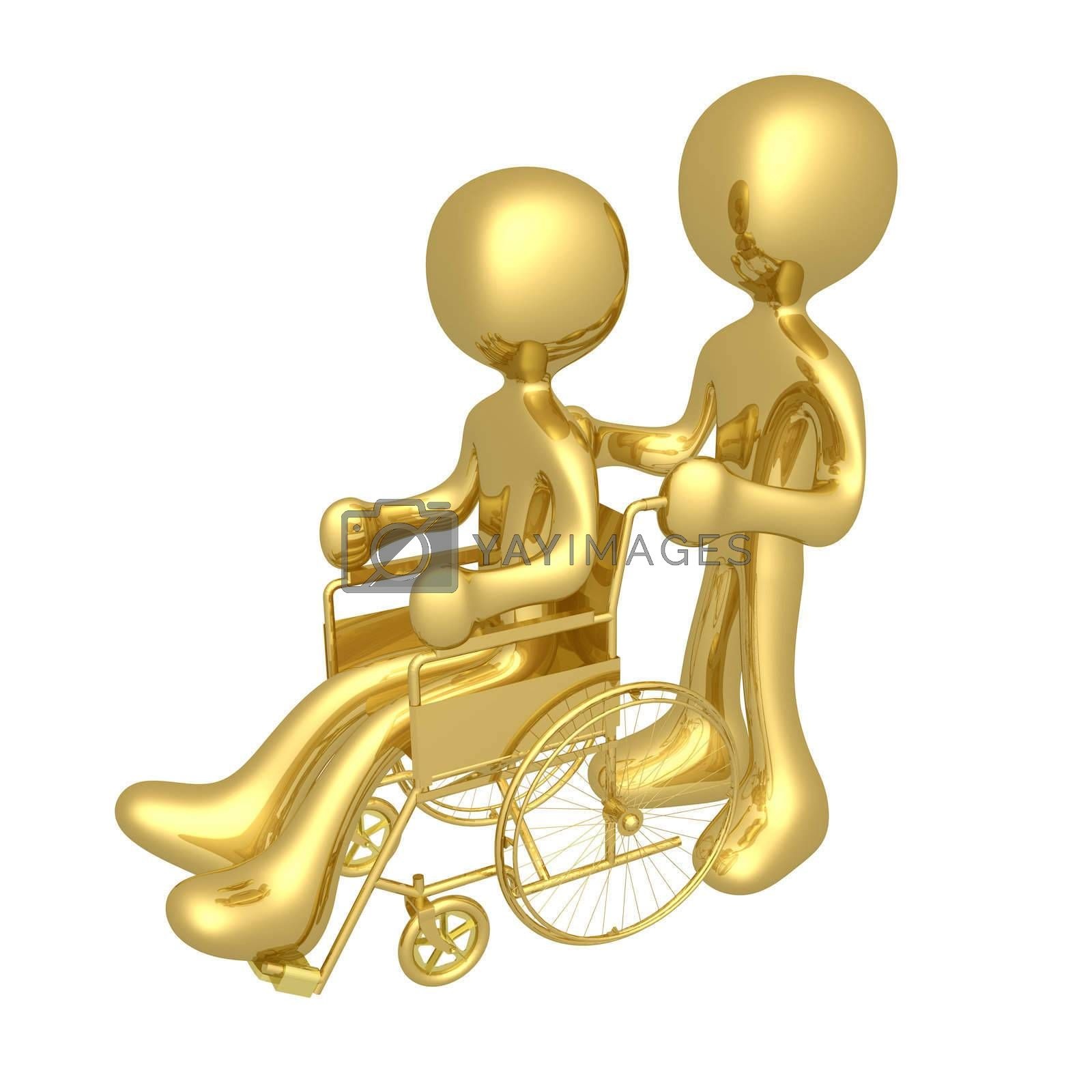 Royalty free image of Person on wheelchair by 3pod
