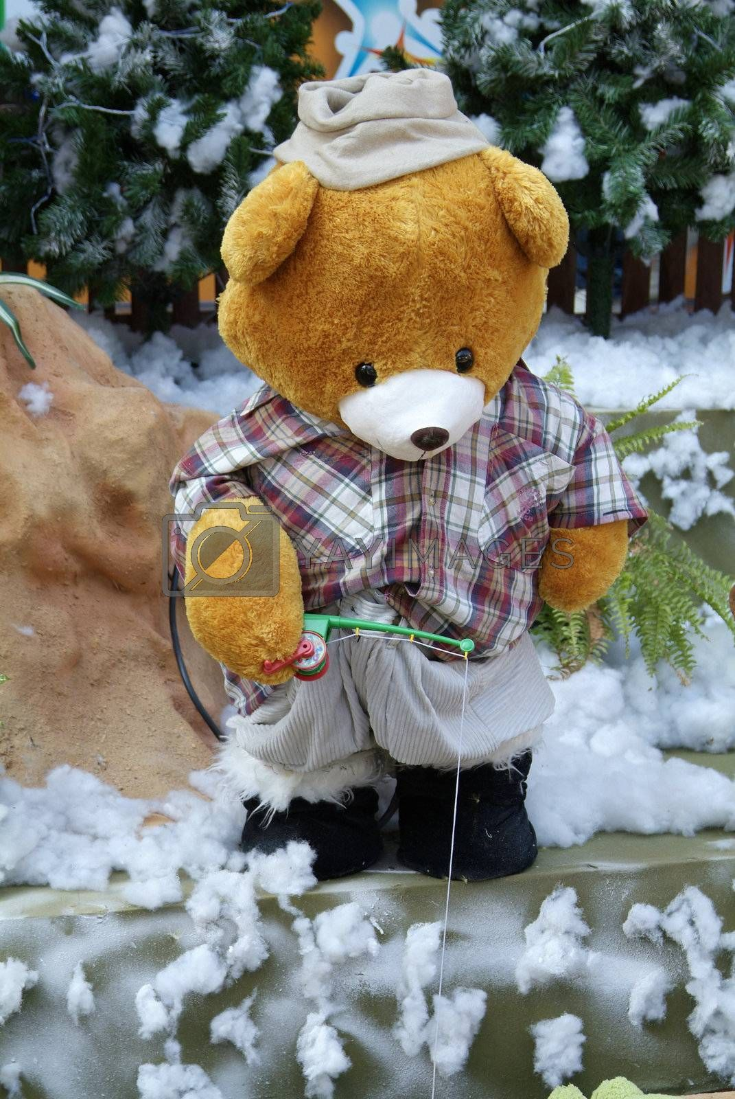 Teddybear fishing by epixx