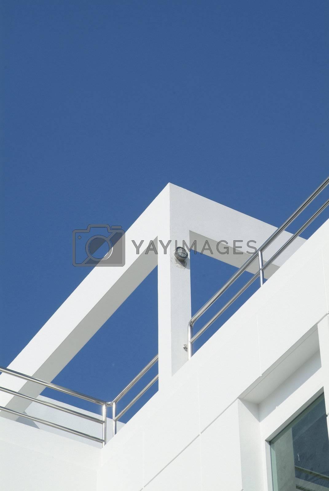 Detail of modern villa by epixx