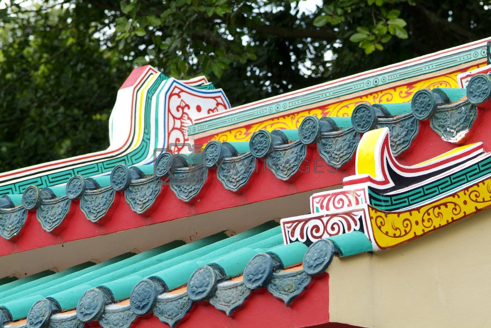 Detail of Chinese temple by epixx