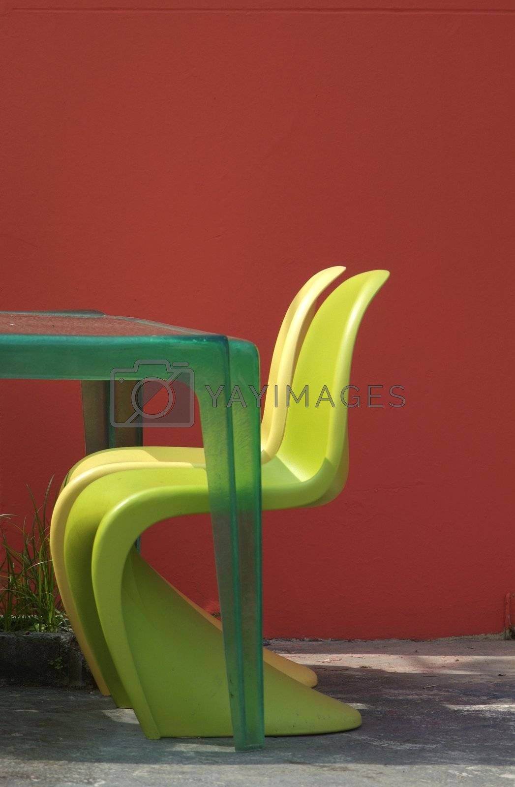 Two plastic chairs by epixx