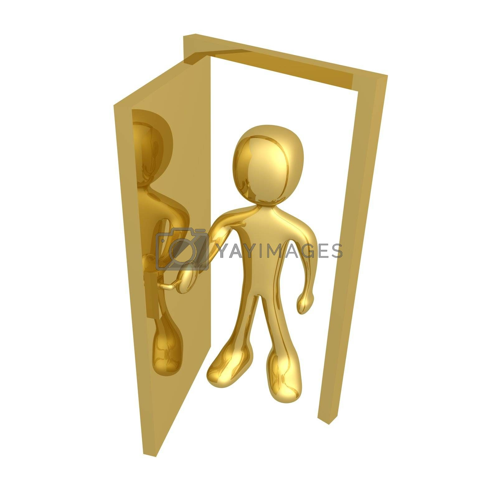 Royalty free image of Open the door by 3pod
