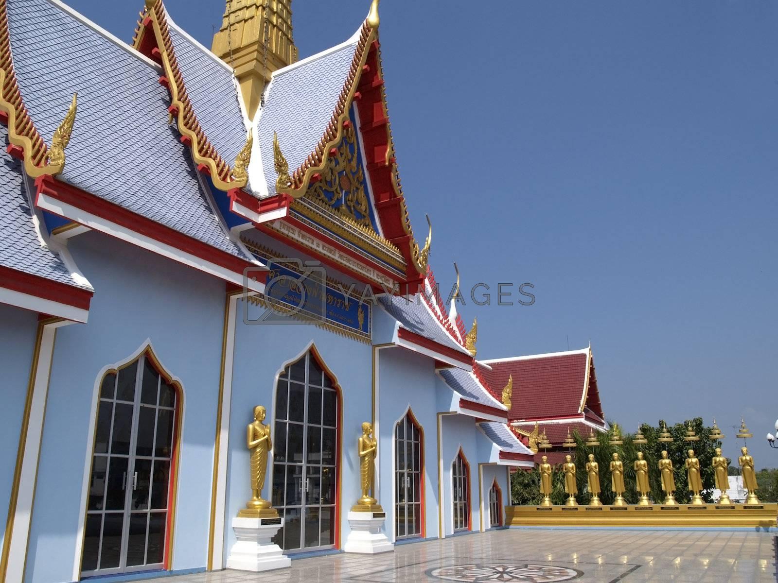 Blue Buddhist temple by epixx
