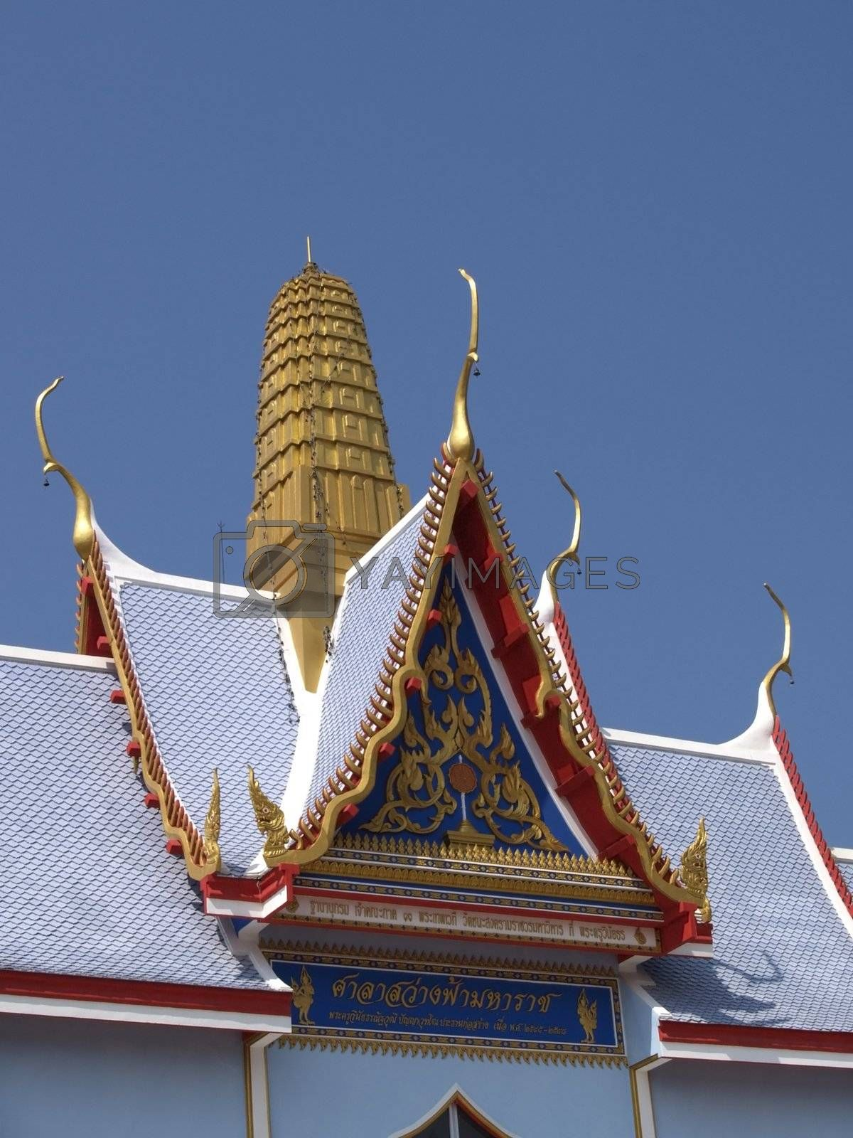 Detail of Buddhist temple by epixx