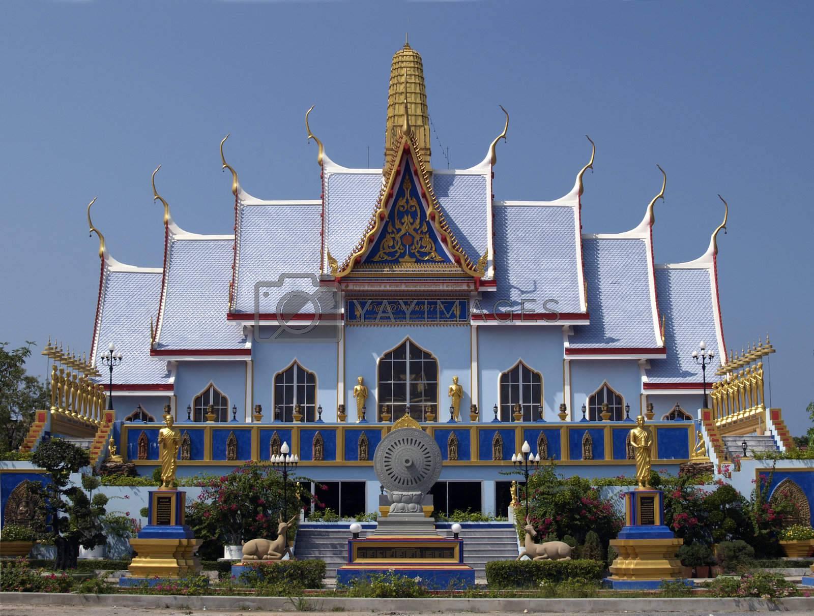 Buddhist temple in Thailand by epixx