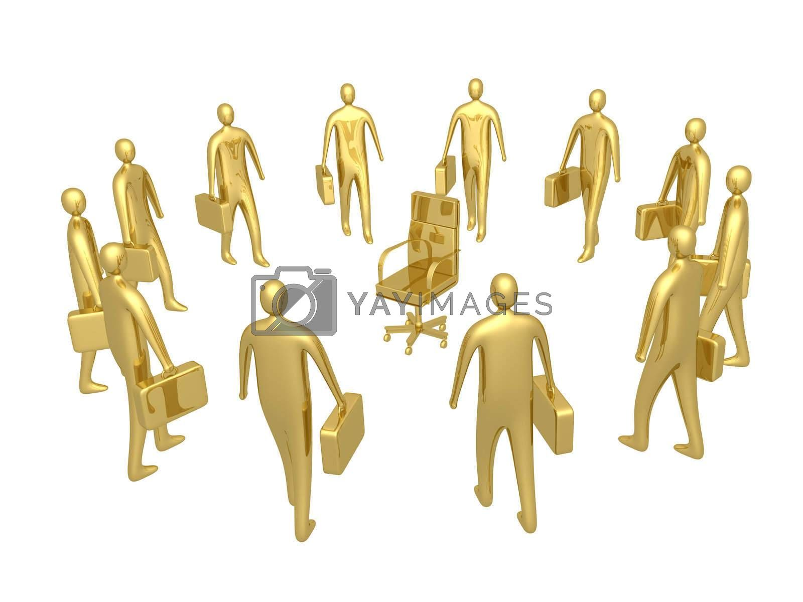 Royalty free image of All For One Position. by 3pod