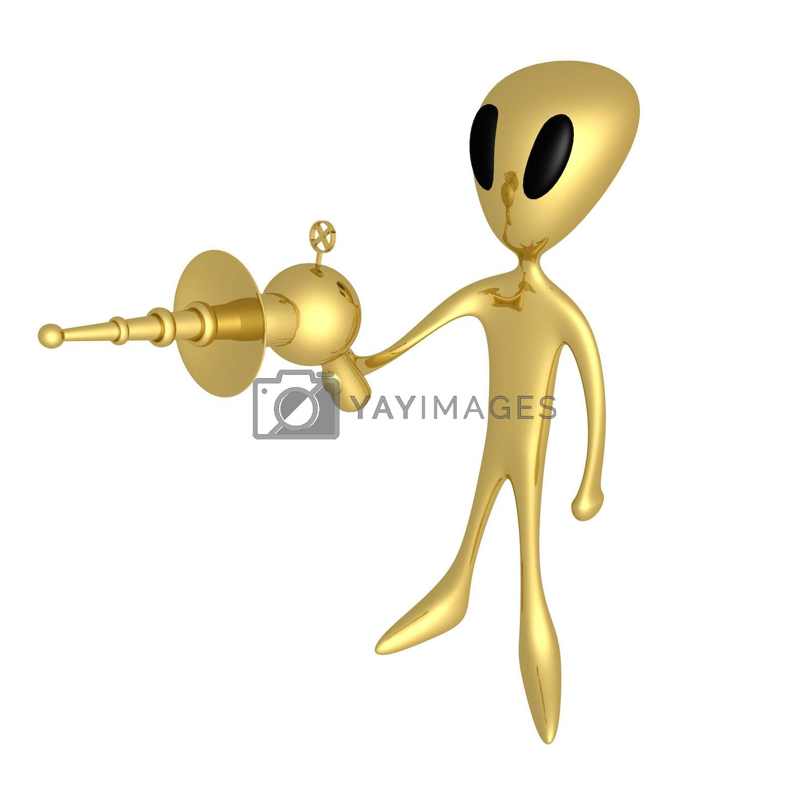 Royalty free image of Alien With Lasergun by 3pod