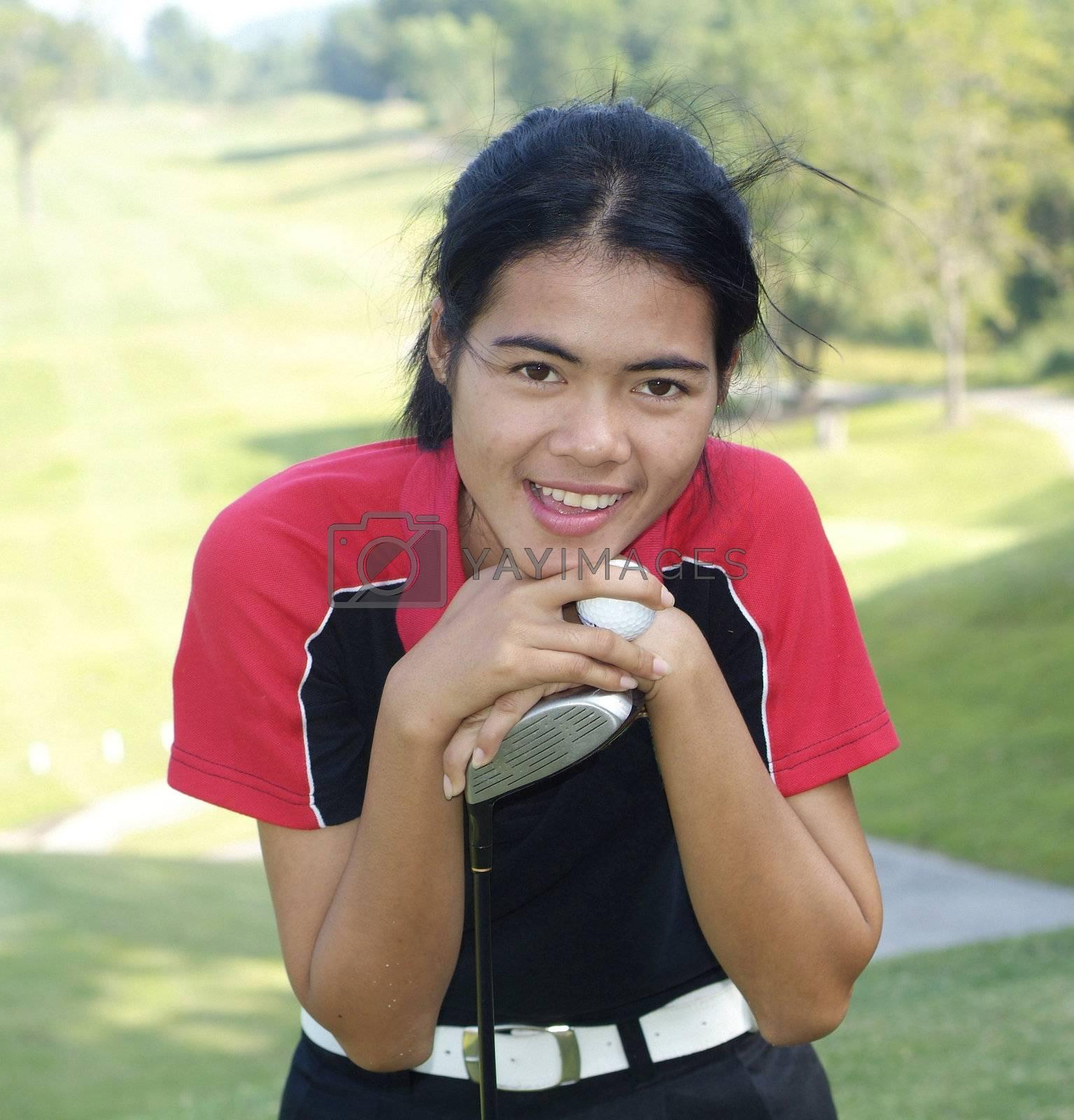 Female golf player by epixx