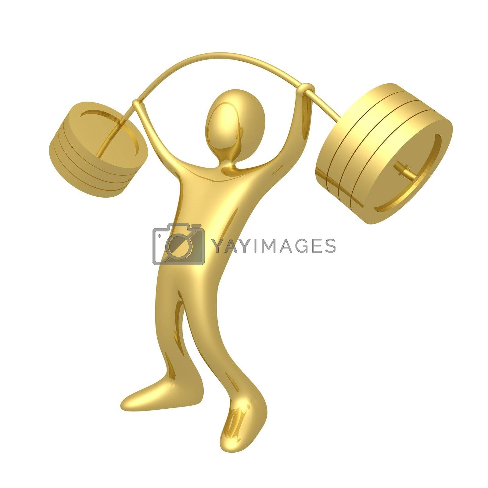 Royalty free image of Weightlifter by 3pod
